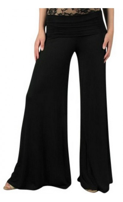 Superwide Comfy Palazzo Pants in Black